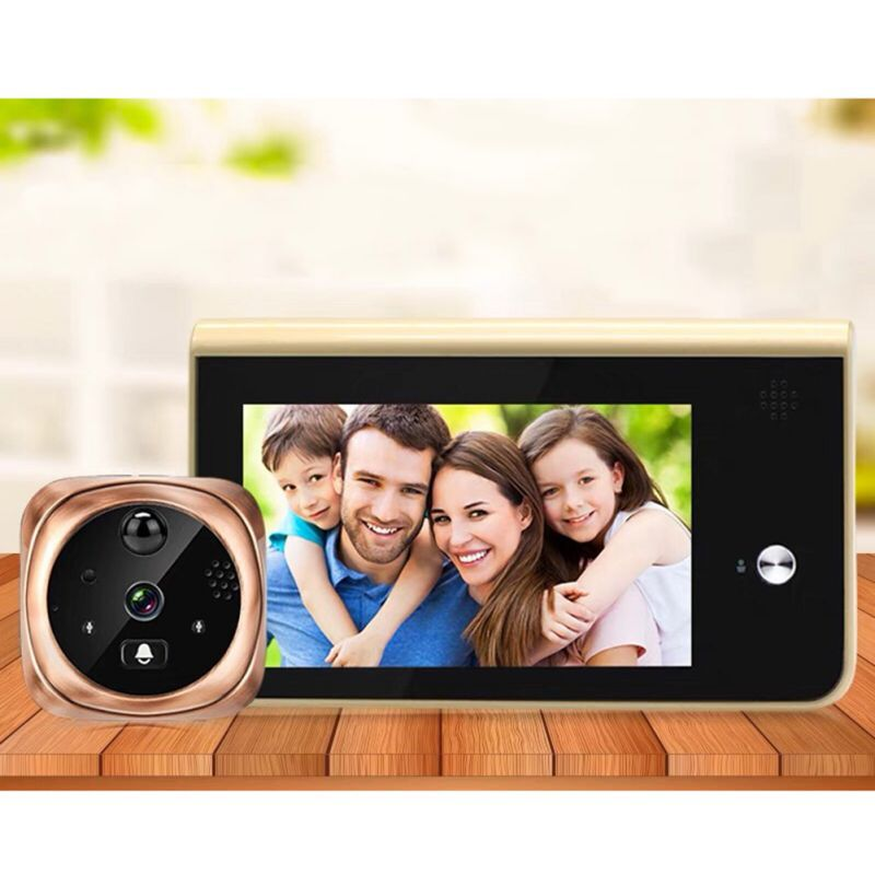Digital Door Viewer Night Vision Remote Photo Video Call Motion Detection Home Security Camera  With IPS HD Screen
