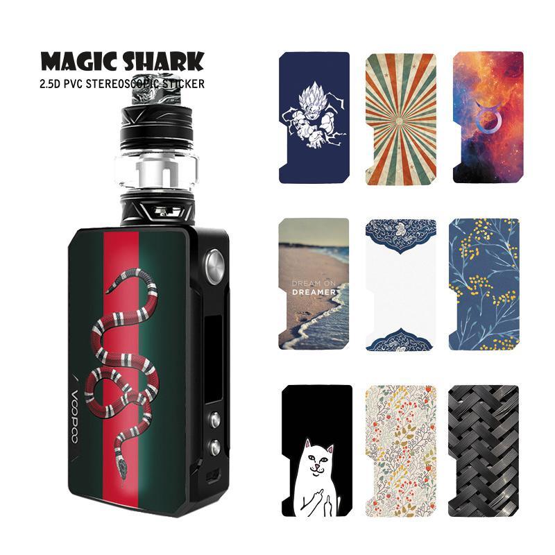 Magic Shark Flower Dragon Ball Cat Snake Skull Fashion Vape Pod Case Cover Sticker Film Skin For Voopoo Drag 2
