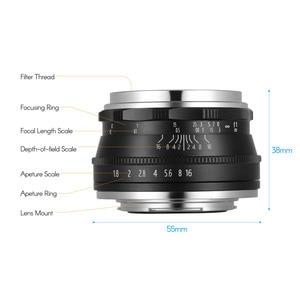 Image 3 - Andoer 25Mm F1.8 Handmatige Focus Camera Lens Grote Diafragma Fotografie Voor Fujifilm Fx Mount Mirrorless Canon Eos Olympus camera