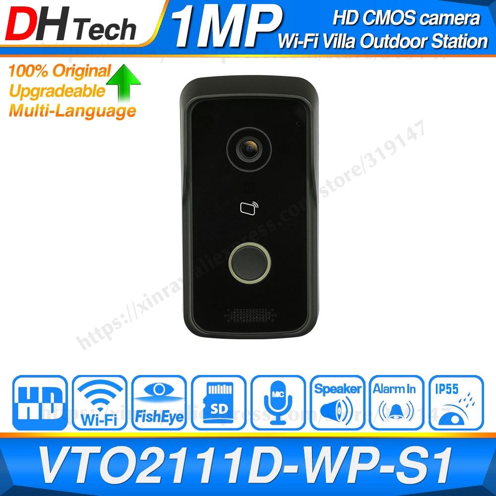 Dahua Original VTO2111D-WP DC 12V POE WIFI IP Metal Villa Outdoor Station Intercom Video Door Phone P2P Villa Outdoor Station