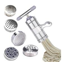 Ручная машина для приготовления лапши, пресс для макаронных изделий, резак для фруктов, соковыжималка, кухонная посуда с 5 пресс-форм для приготовления спагетти, кухонные принадлежности