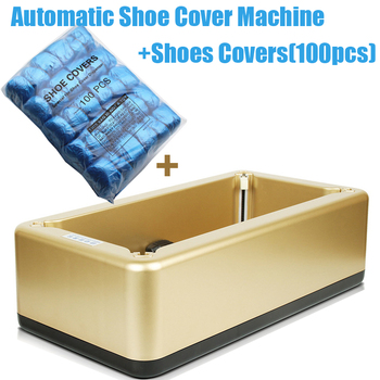 Gold Automatic Shoe Cover Machine Intelligent Shoe Sleeve Tool Disposable Foot Cover Machine Shoe Film + 100pcs Shoes Covers