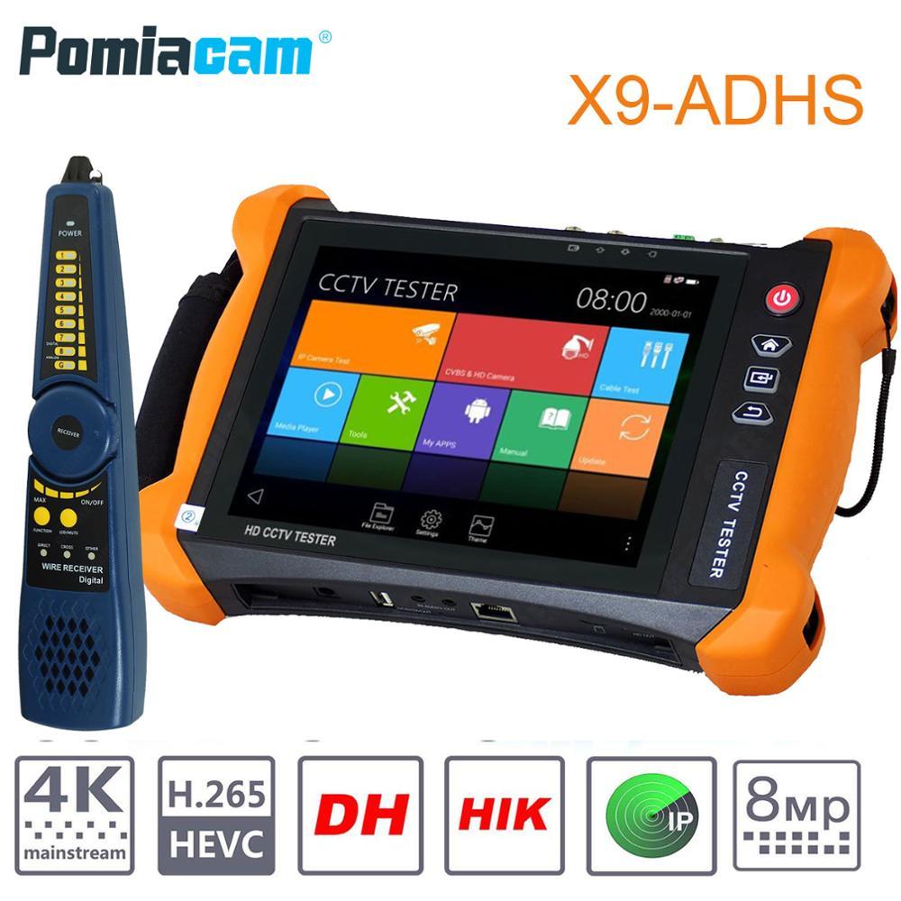 X9-ADHS  CCTV Tester Monitor AHD//CVI//TVI//SDI Multimeter IP Cam Tester