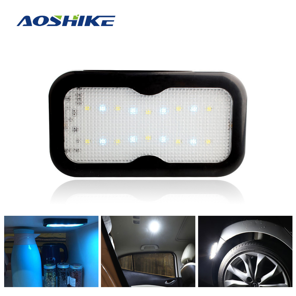 AOSHIKE 1PCS Car Interior Light LED Light Car Ceiling Reading Light Magnet Ceiling Lamp Universal Vehicle Interior USB Charging