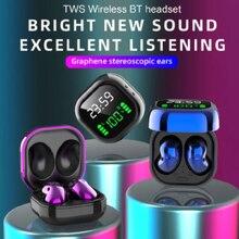 S6 plus tws bluetooth fones de ouvido v5.1 display led 6d estéreo fone de ouvido sem fio design ergonômico vida dwaterproof à prova dwaterproof água