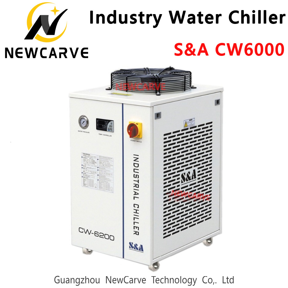 Industrial Water Cool Chiller S&A CW6000 3000W Capacity For <font><b>CO2</b></font> <font><b>Laser</b></font> Machine Cooling <font><b>300W</b></font> <font><b>CO2</b></font> <font><b>Laser</b></font> <font><b>Tube</b></font> NEWCARVE image