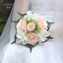 Элегантный свадебный букет topqueen красная роза бордовые и