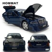 HOMMAT, Mercedes Clase C, AMG, escala 1:32, modelos de coche, vehículo de juguete de aleación fundida, modelo de coche, regalo para niños, juguetes para niños, luz de sonido
