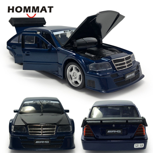 Image 1 - Hommat mercedes c class amg 1:32 escala modelos carro veículo liga diecast brinquedo modelo de carro crianças presente brinquedos para crianças som luz