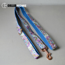 Bow dog collar leash for big small dog fabric collar with rose gold metal buckle bow tie pet collar leash straps good quality nylon adjustable dog collar leash set with bow tie for big small dogs cotton fabric collar rose gold christmas decorative gifts