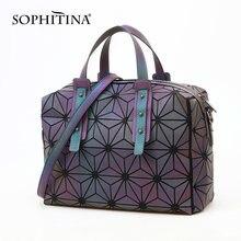 Модная женская сумочка sophitina блестящие женские сумки на