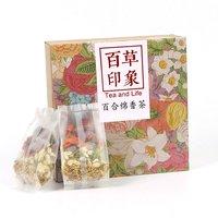 Lírio chá conjunto de flores frutas chá|Saquinhos de chá descartáveis| |  -