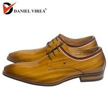 Мужские туфли из лакированной кожи; итальянский дизайн; деловые туфли; цвет коричневый; роскошные стильные оксфорды; мужские повседневные и модельные свадебные туфли в стиле Дерби