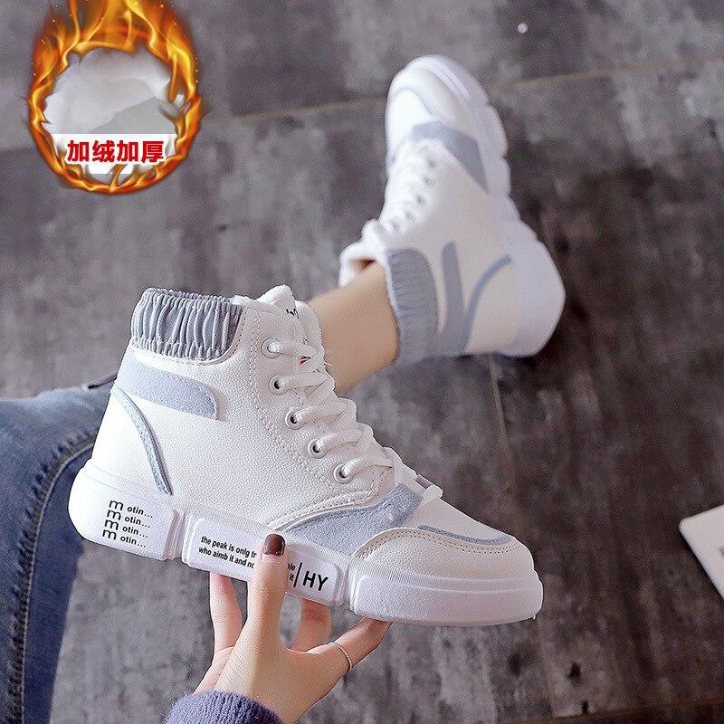 2019 new winter sports shoes casual Plush walking shoes small white shoes fashion shoes casual shoes women's shoes