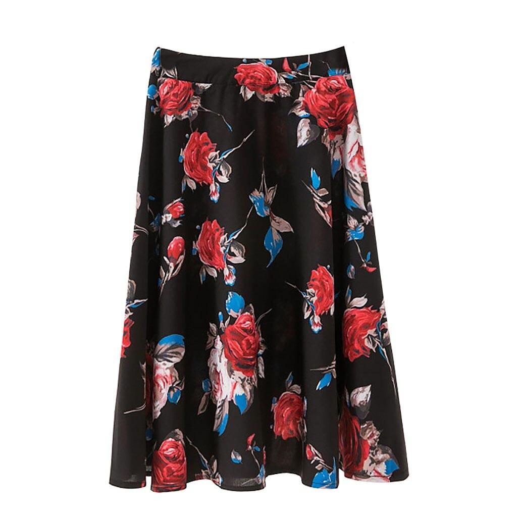 Women's Fashion Skirt New spring short sexy casual Women Casual Skirt  Mid-length Skirt Digital Print Pleated Skirt Skirt #40%