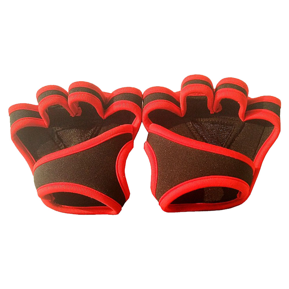 Men Women Fitness Gloves Soft Sports Body Building Gym Four Fingers Non Slip Weight Lifting Silicone Training Prevent Calluses