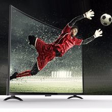 32 inç TV geniş ekran 3000R kavisli TV çoklu dil ses yapay zeka televizyon 2 in 1 kablosuz LED LCD HDTV