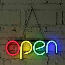 Negócio aberto sinal de néon luz ultra brilhante led loja publicidade lâmpada luzes