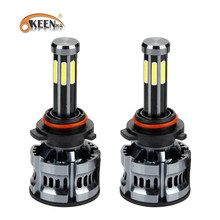 OKEEN H4 LED H1 H7 LED 200W H8 HB3 9005 HB4 H9 H11 Led Headlights Bulbs 9012 HIR2 8sides High Power Canbus 360 Degree Auto Lamp