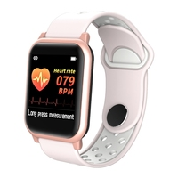 Inteligentny zegarek F8S pulsometr kobiety/inteligentny zegarek dla mężczyzn pasek do tlenu we krwi opaska monitorująca aktywność fizyczną Sport zegarek PK W34 D13 w Zegarki dla zakochanych od Zegarki na