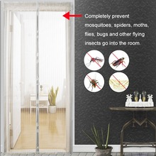1PC Home Use Mosquito Net Curtain Magnets Door Mesh Insect Sandfly Netting with on The Screen 5 Size