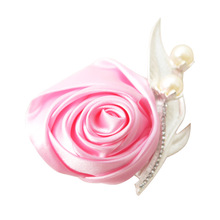 Шелк бутоньерка свадьба корсаж брошь роза жемчуг бутоньерки для гостей жениха жениха аксессуары брак свадьба свидетель