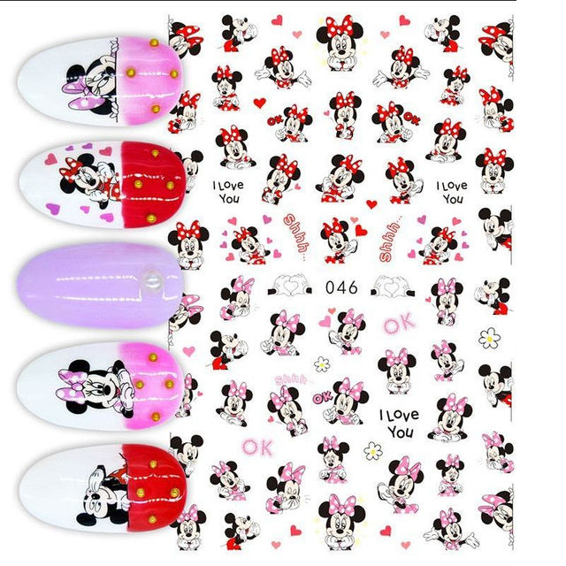 1Pcs Cartoon Animal Brand Nail Art Stickers Anime Love Stars Nail Art Decoration Repair Accessories 4