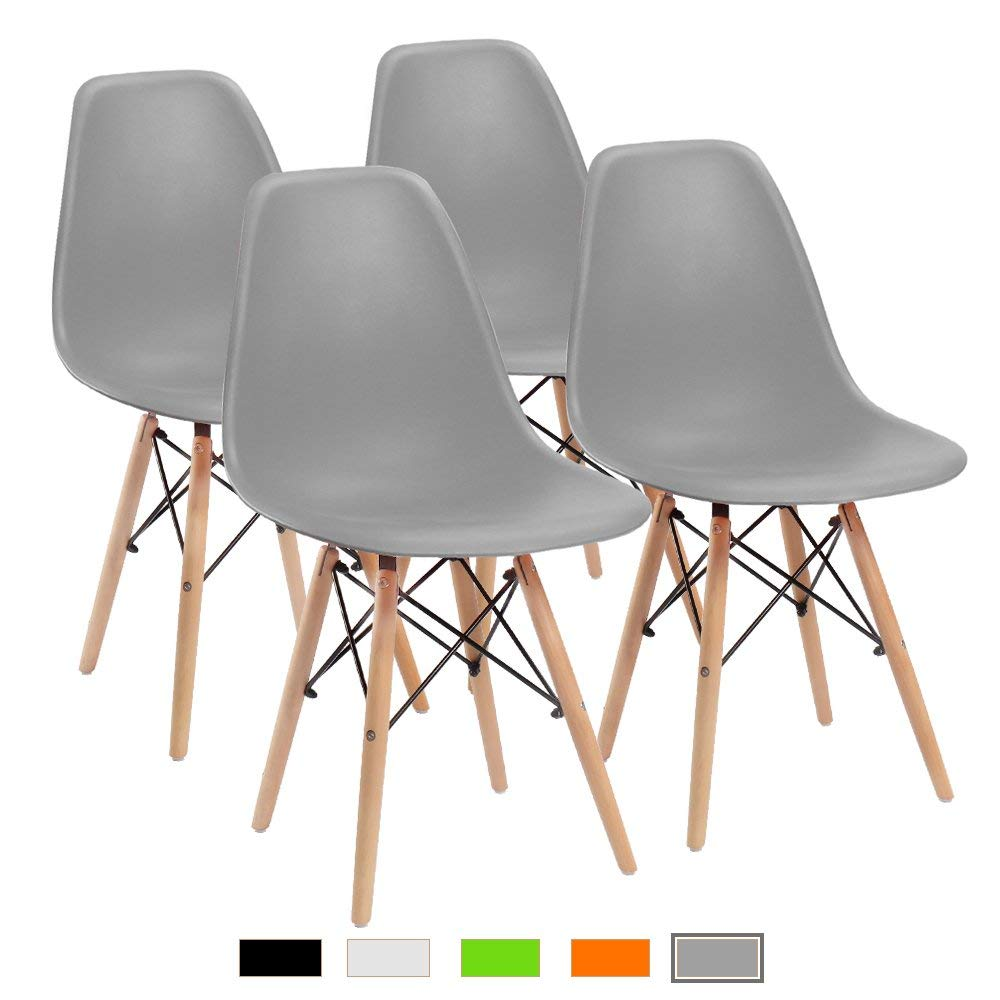 Minimalist Dining Room Chair, Modern Plastic Chair For Kitchen,Dining, Bedroom,Study,Living Room Office Chairs 4 Pcs