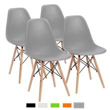Minimalist Dining Room Chair, Modern Plastic Chair for Kitchen,Dining, Bedroom,Study,Living Room Office Chairs 4 Pcs цена и фото