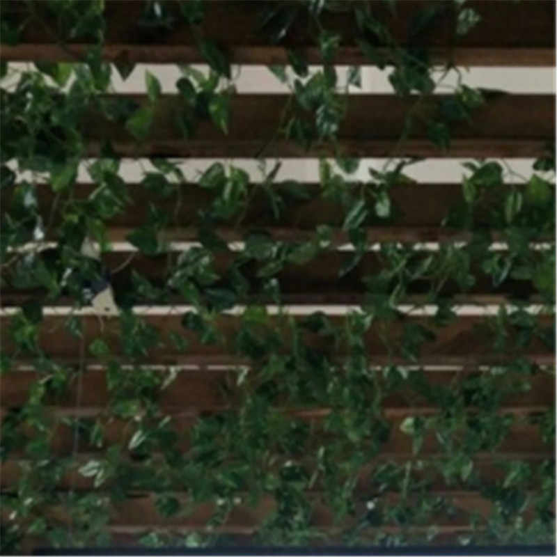 2 metry sztuczne rośliny Creeper zielony liść stroik z bluszczu do domu dekoracje ślubne hurtownie diy wiszące Garland sztuczne kwiaty