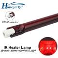 HoneyFly 1 шт. J254 инфракрасная галогенная лампа 1000 Вт/1300 Вт 220 В 254 мм R7S IR обогреватель лампа Рубиновая Одиночная спиральная сушильная галогенная ...
