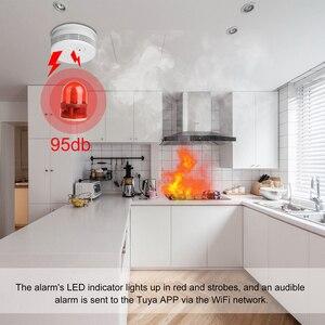 Image 3 - Detector de fumaça combinação de incêndio alarme incêndio sistema de segurança em casa tuya wifi fumaça alarme proteção contra incêndio