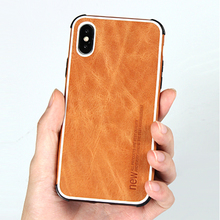 iPhone Xs Max Case luxury vintage leather case for X XR XS shockproof phone
