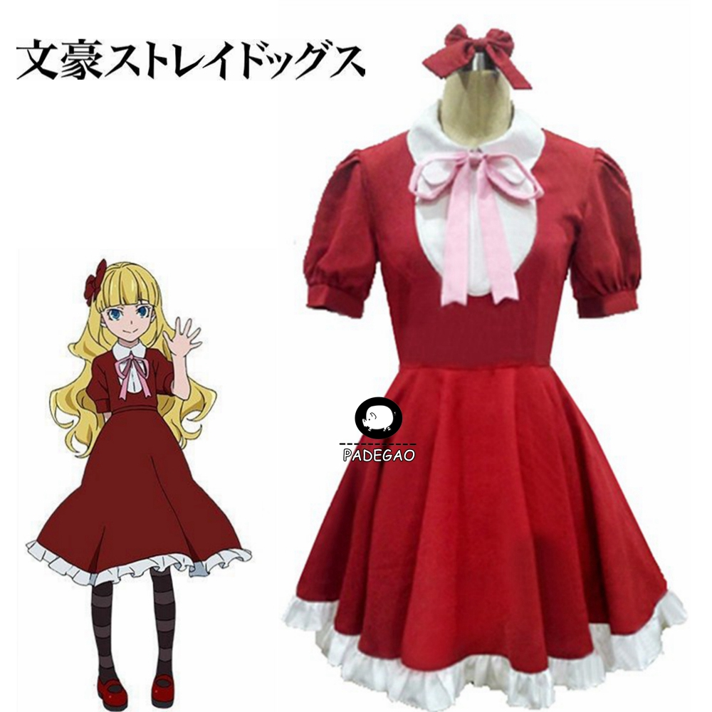 Bungou Bungo Stray Dogs Port Mafia Ogai Mori's Manifestation Elise Outfit Dress Clothing Anime Manga Cosplay Costume