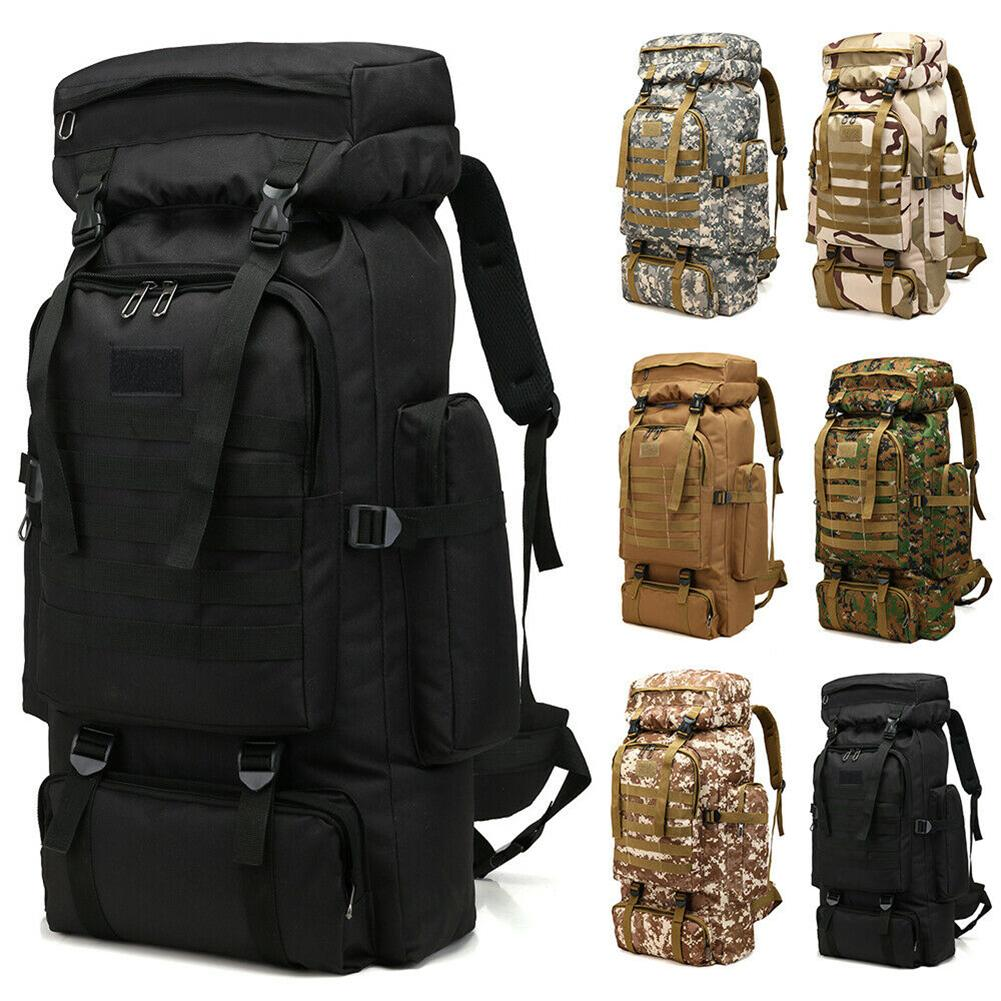 80L Large Capacity Oxford Cloth Outdoor Sports Travel Backpack Shoulder Pouch