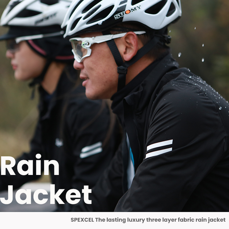 SPEXCEL 2020 New All Season Cycling Rain  Jacket Windproof & Waterproof Technology High Breathable 3-layer Fabric Cycling Jacket