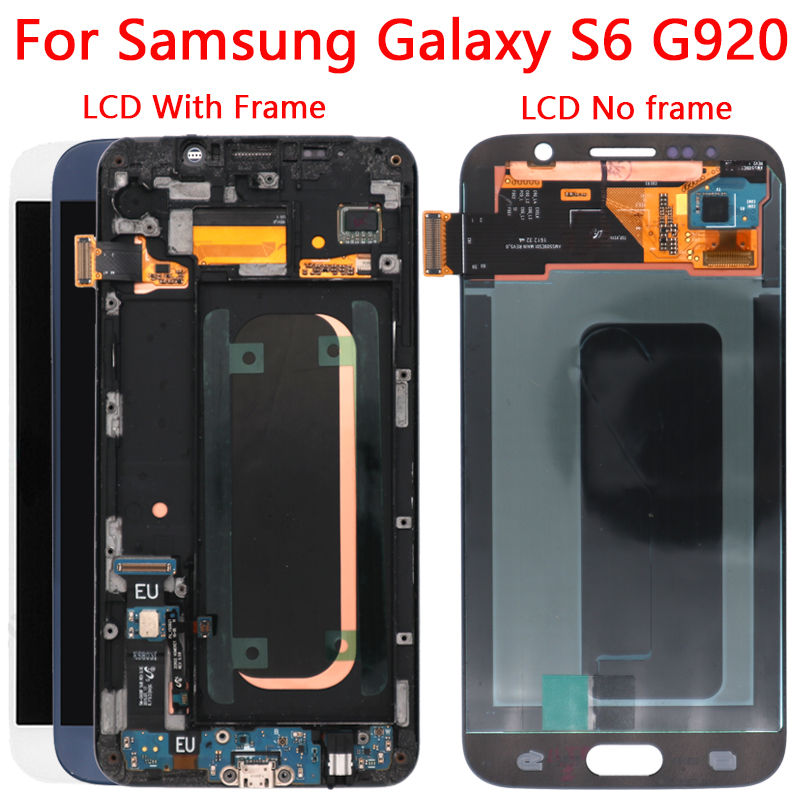 G920F LCD pour Samsung Galaxy S6 LCD écran cadre de remplacement LCD pour Galaxy S6 affichage G920 G920F pièces de réparation