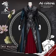 Uwowo disfraz Cosplay de serie de televisión Mo Dao Zu Shi, el Untamed Wei Wuxian, versión con remaches Wei Ying, para hombre