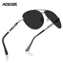 KDEAM Cat.3 Polarized Sunglasses Men Pilot 62mm Lens Designer Driving Sun Glasses with Zipper Case