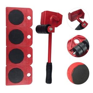 Image 5 - 5 個の家具リフタースライダーキット職業ヘビー家具ローラー移動ツールセットホイールバーデバイス最大 100 キロ/220Lbs