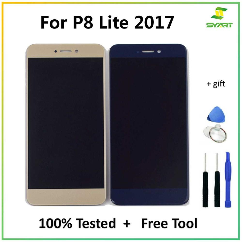 """5.2"""" For Huawei P8 Lite 2017 LCD Display Touch Screen Digitizer Assembly Replacement Parts + Tools For P8Lite 2017 LCDs Screen"""