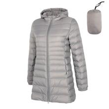 2019 Spring Matte Ultra Light Down Women Long Jacket Soft Warm Windbreaker Duck