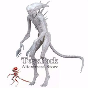 """Aliens 7"""" Scale Neomorph Alien White Action Figure With a Poseable Baby Covenant Moive KO's 2017 NECA Series Toys Doll(China)"""