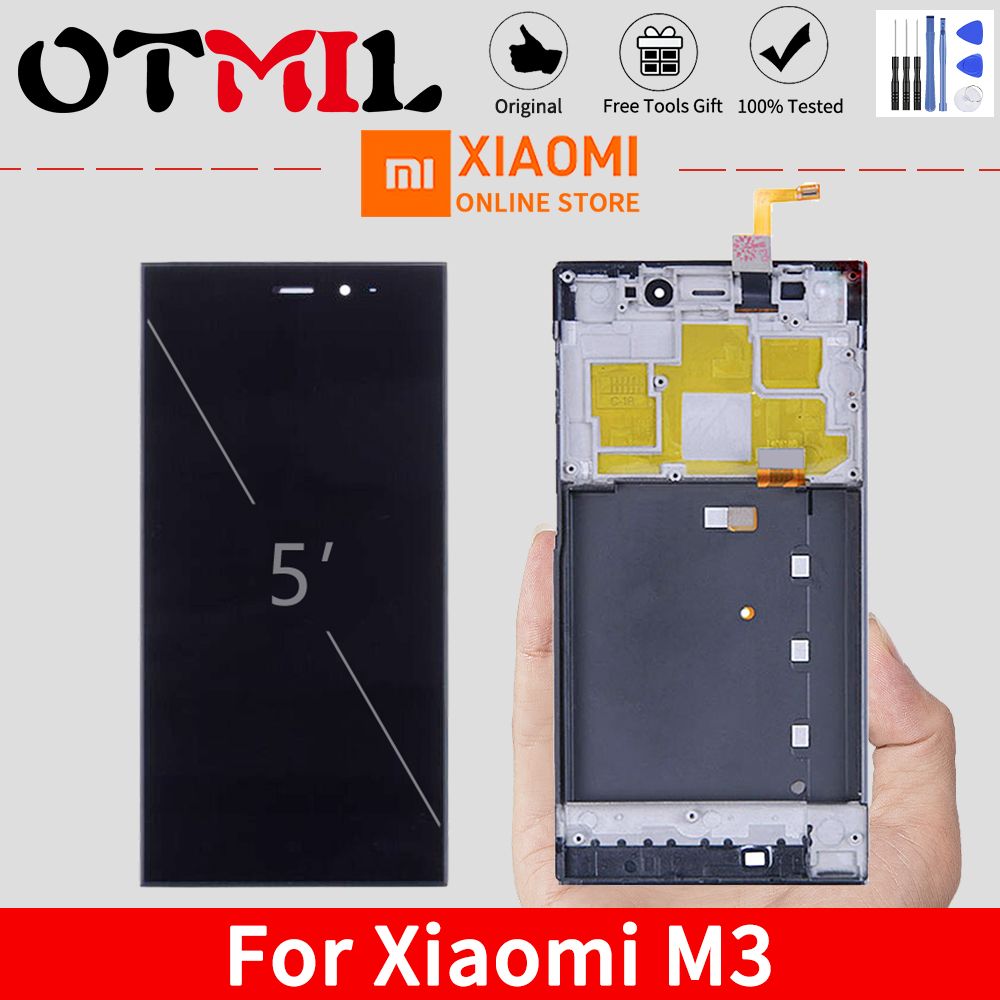 TDS-CDMA WCDMA Original 5.0'' LCD For XIAOMI Mi3 LCD Display Touch Screen Frame For Xiaomi Mi 3 LCD M3 LCD Display Replacement