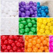 7 см/50 шт экологически чистые красочные Мячи Мягкие пластиковые океанские шарики прозрачные воды океанские волнистые шарики игрушки для детей Малыш Ребенок