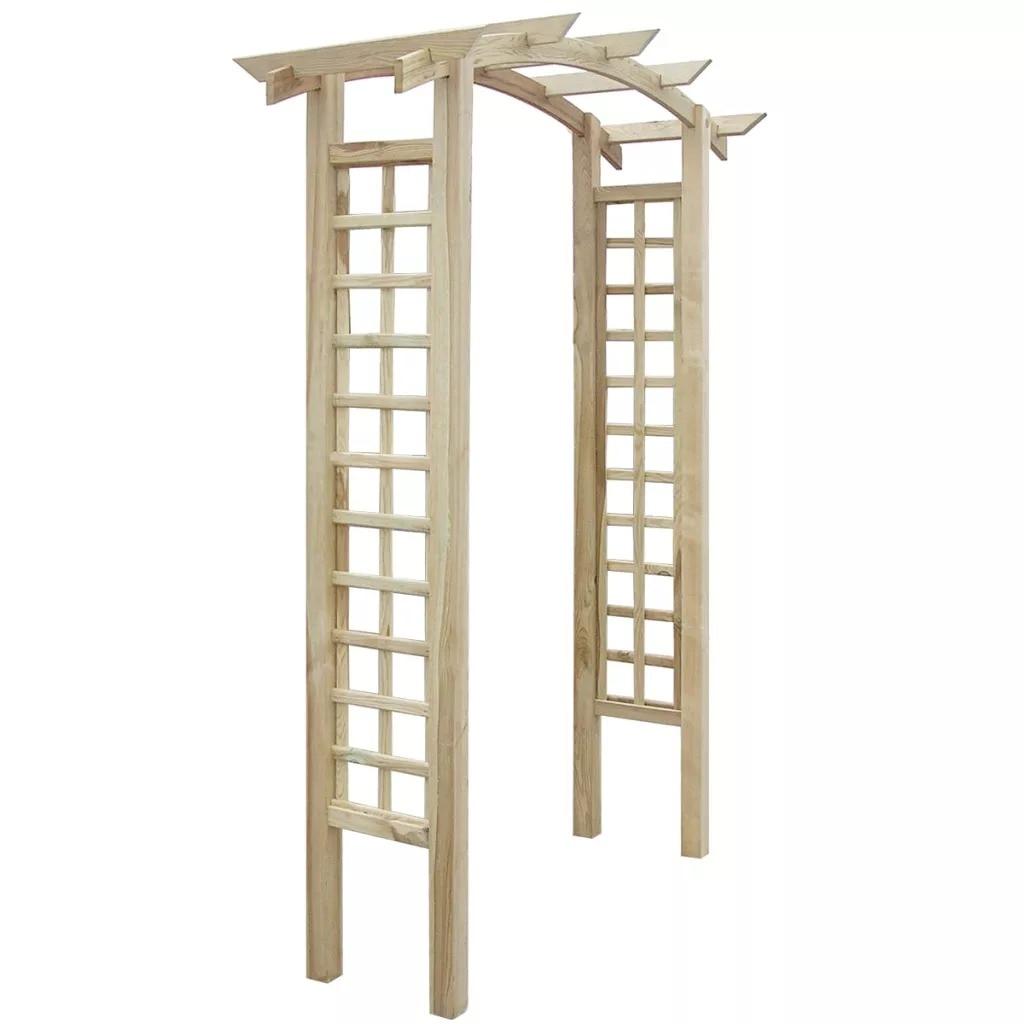 VidaXL Bois FSC Treillis Arc 150x50x220 Cm Robuste Durable Et Résistant à la Pourriture Matériel Arche à Rosiers Jardin Bâtiments