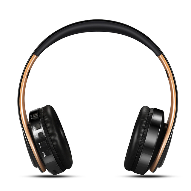 HIFI Stereo Earphones Bluetooth Headphone Music Headset FM and Support SD Card with Mic for Mobile XiaoMi Iphone Sumsamg Tablet 2