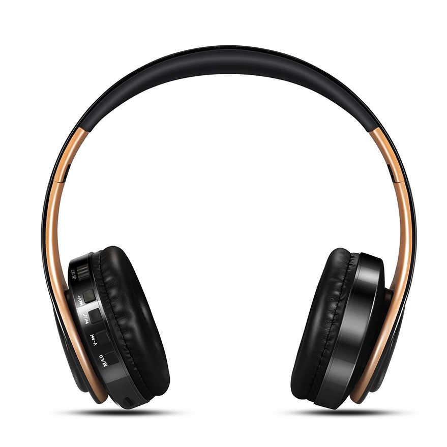 Słuchawki stereo HiFi słuchawki bluetooth muzyczny zestaw słuchawkowy FM i wsparcie karty SD z mikrofonem dla telefonu xiaomi iphone sumsamg tablet