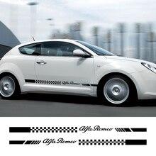 2 шт. для Alfa Romeo Giulia Giulietta 147 156 159 166 автомобиля длинные штаны с полосками, Стикеры автомобильный Стайлинг автомобиля Принадлежности для тюнинга