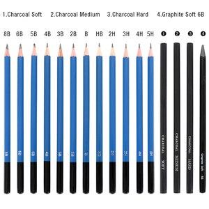Image 5 - 40 pièces Kit de crayons de dessin de croquis professionnel marqueurs dart ensemble doutils de peinture pour dessin détudiant